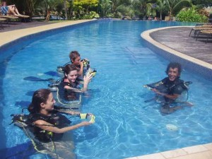 teaching diving, port Vila, Vanuatu