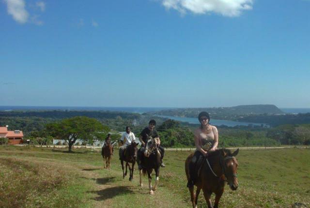 tropical rainforest horse ride in Vanuatu