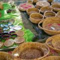 Locally woven baskets on the Lelepa island day tour