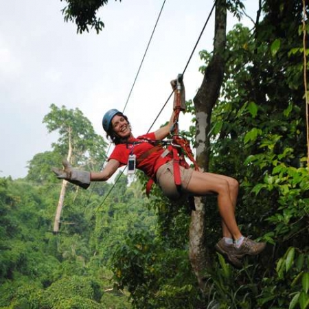 Best way to see the Vanuatu bush by Zipline