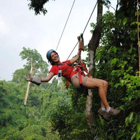 Best way to see the Vanuatu bush by Zipline