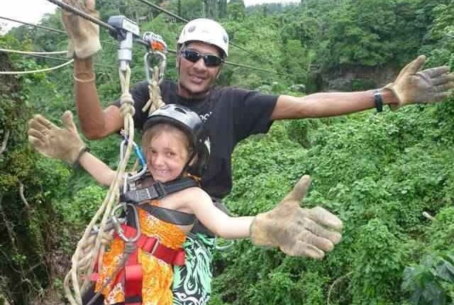Children love the zipline tour in Port vila, Vanuatu