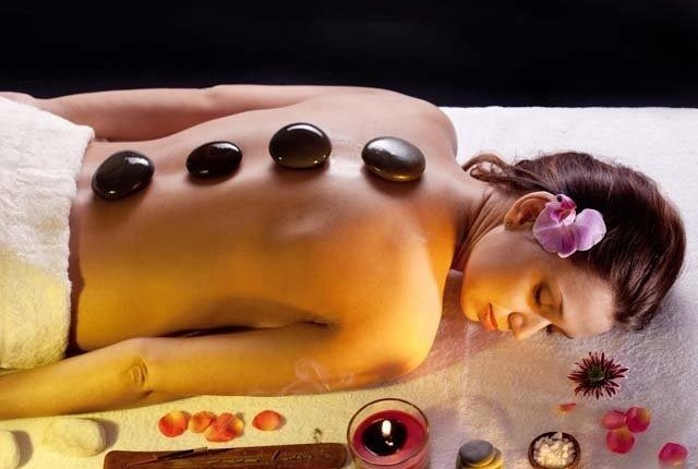 No activity when hot stone massage takes place