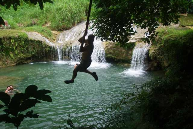 Swimming and swinging on the waterfalls and canyon trek