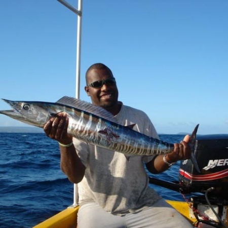 Fishing for wahoo off Lelepa Island