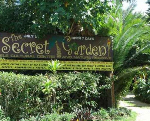 The Secret Garden at Mele, on the Port Vila tour Vanuatu