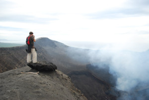 Photographing the volcano in Tanna, Vanuatu