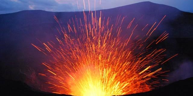 Tanna volcano in Vanuatu