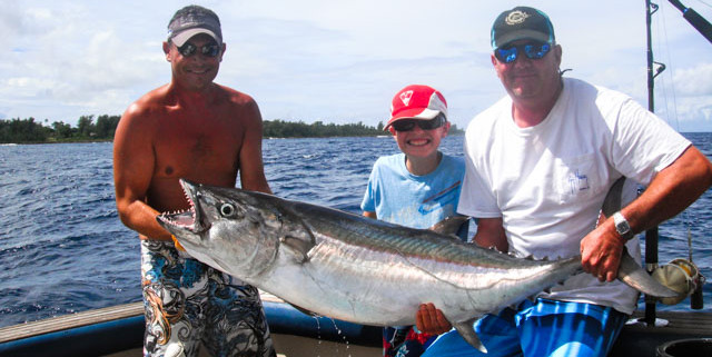 Game Fishing for Dog Tooth Tuna in Vanuatu