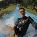 slippery slide water park in Port Vila Adventure park