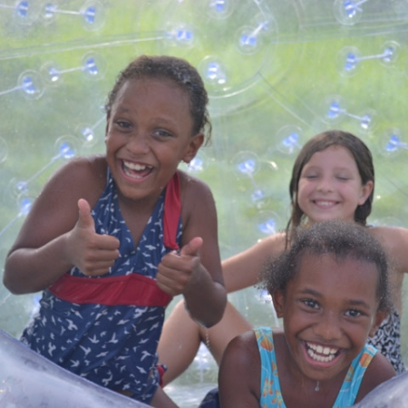 Zorb tour at Port Vila Water Park Adventure Park