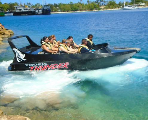 Jet boat fun on Port Vila, Vanuatu