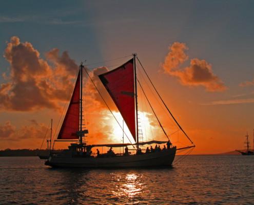 sunset cruise in Port Vila Harbour