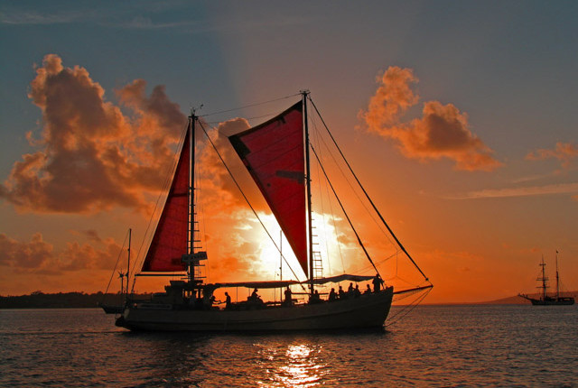 sunset cruise in Port Vila Harbour