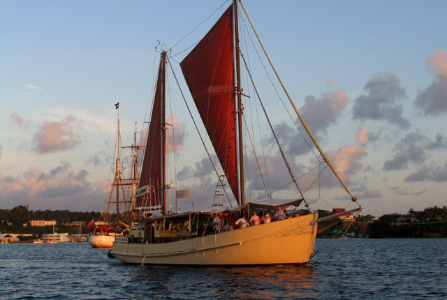sunset cruise around Port Vila Harbour