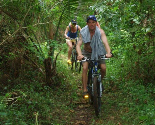 Eco tours bike ride takes you through the jungle