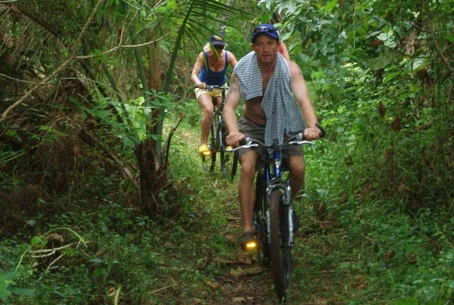 Eco tours bike ride takes you through the jungle