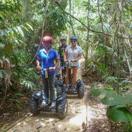Riding seaways scooters through the Vanuatu jungle