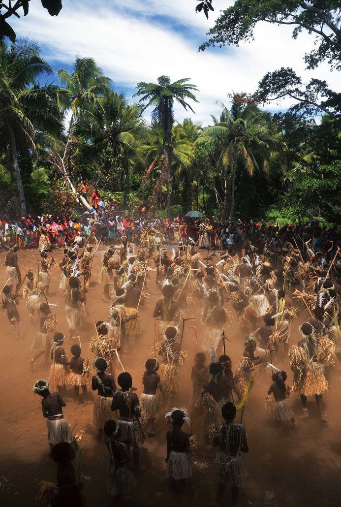 Photograph of tribe in Tanna Vanautu