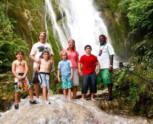 Waterfall tour in Vanuatu