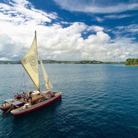 Okeanos sustainable sailing boat in Vanuatu